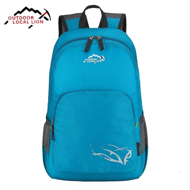 a18ad1d4ead0 2017 Lightweight Foldable Sport Small Traveling Hiking Backpack Outdoor  Women   Men Skin Bag Waterproof Nylon Rucksack