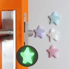 2018 New Starfish Sticky Door Stopper Shockproof Crash Pad Anti-crash Safe Wall Protector(China)