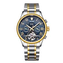 TEVISE Men's Self-Wind Tourbillon Mechanical Watches Men clock Water Resistant Automatic Skeleton Watch Men Relojes Hombre