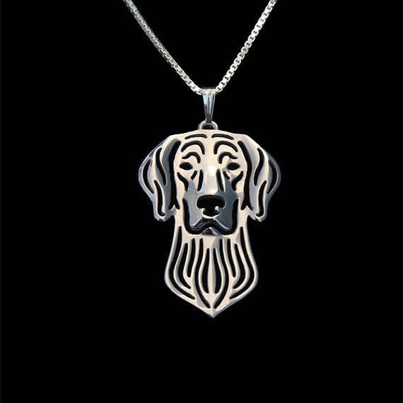 Weimaraner jewelry - Gold and silver pendant and necklace jewelry Simple abstract animal free ship 12pcs/lot