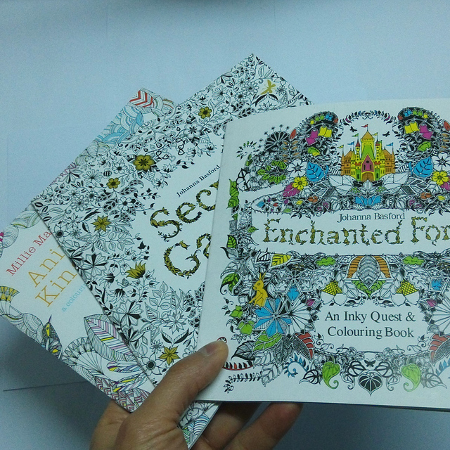 3pcs Lot Coloring Books For Adults Secret Garden Animal Kingdom Enchanted Forest Libros
