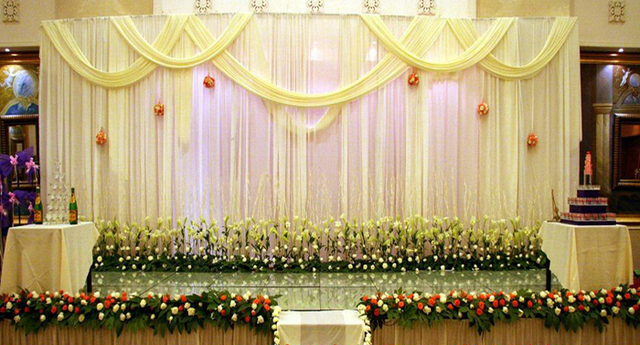 10ft 20ft Light Yellow Wedding Backdrop Drapes Curtain Wholesale