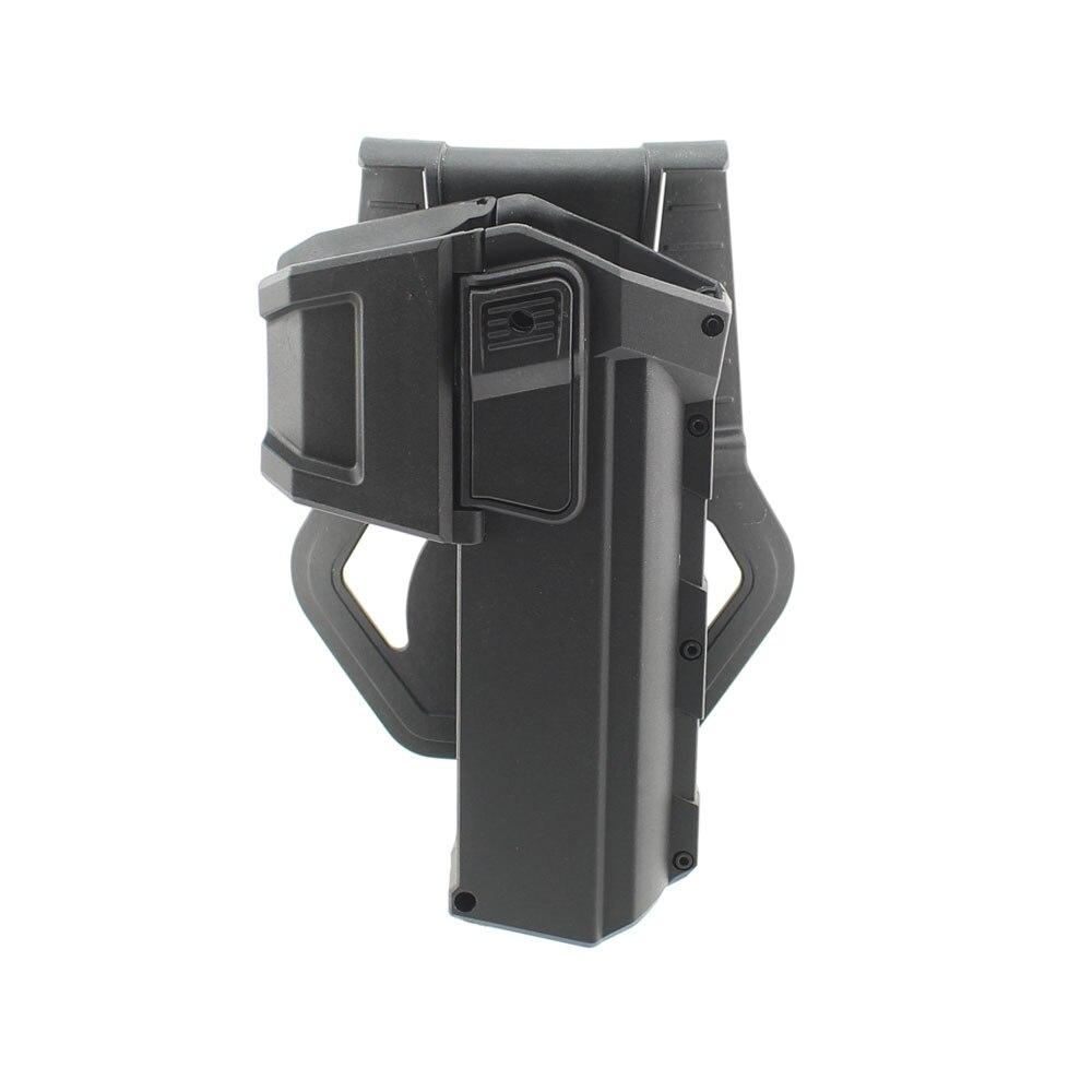 Táctico móvil pistola fundas para G17 G18 con linterna o láser montado Glock serie mano derecha cintura funda de pistola