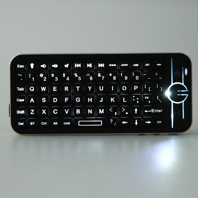 48ca5c7268b iPazzPort KP - 810 - 16BL Mini Wireless Bluetooth QWERTY Keyboard Touchpad  with Backlight for Laptop