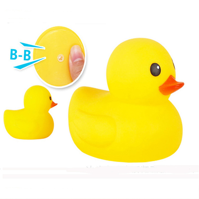 Duck Baby Bath Toys Cute Girl Boy Gift Rubber Race Squeaky Animal Set  Swimming Pool Water