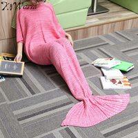 31 71 Yarn Knitted Mermaid Tail Blanket Handmade Crochet Mermaid Blanket For Adult Kids Super Soft
