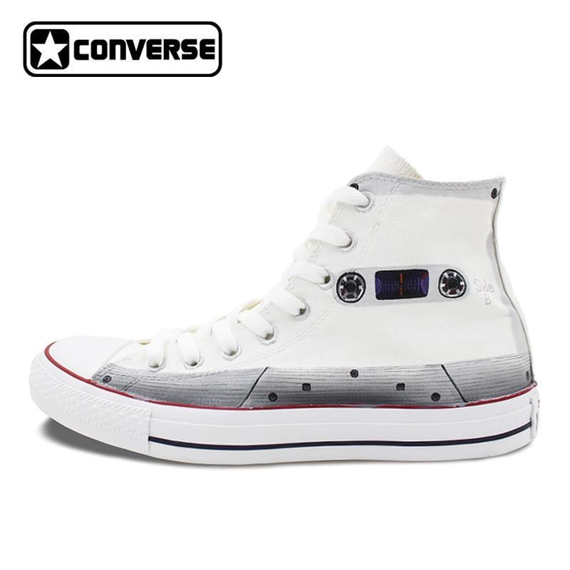 Pintado a mano Zapatos vintage hombres mujeres Converse all star ...