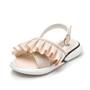 Girls Summer Shoes 2019 Kids Sandals for Girls Ruffles Princess Pink Flat Shoes Toddler Infant Kids Girl Sandals Party Shoes