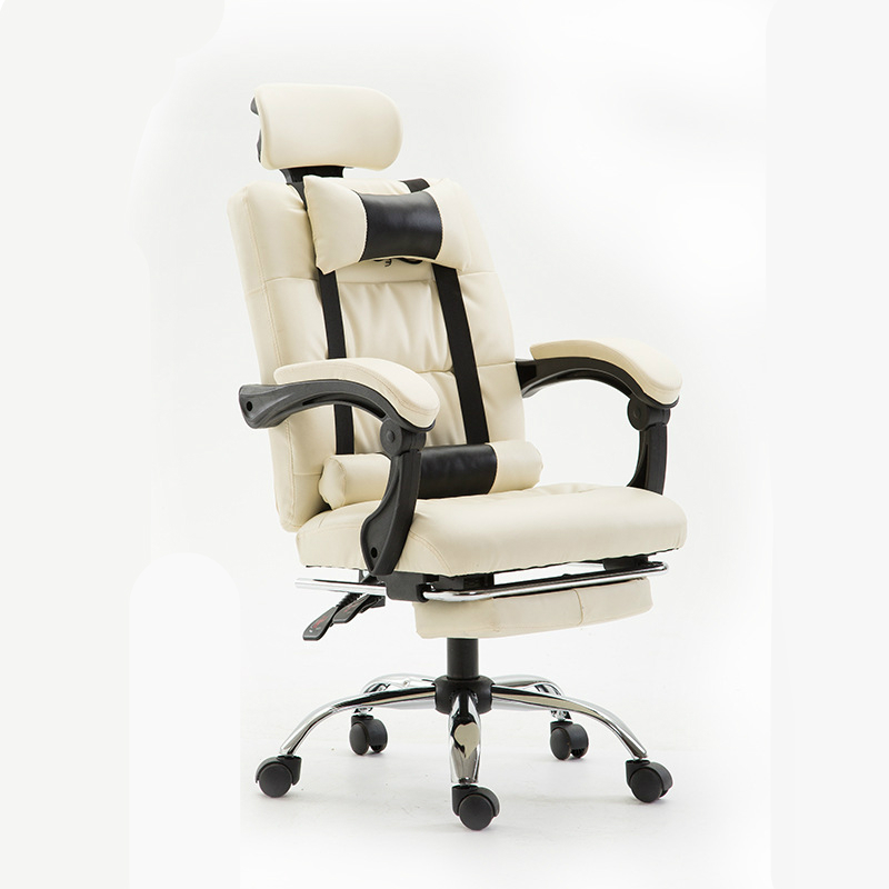 Office Reclining Lifted Chair with Footrest Massage Nap Chair Household Swivel Chair Comfortable PU Adjustable Computer Chair sports yoga slipper women anti slip cotton cycling socks ladies pilates socks ballet heel protector professiona yoga dance socks