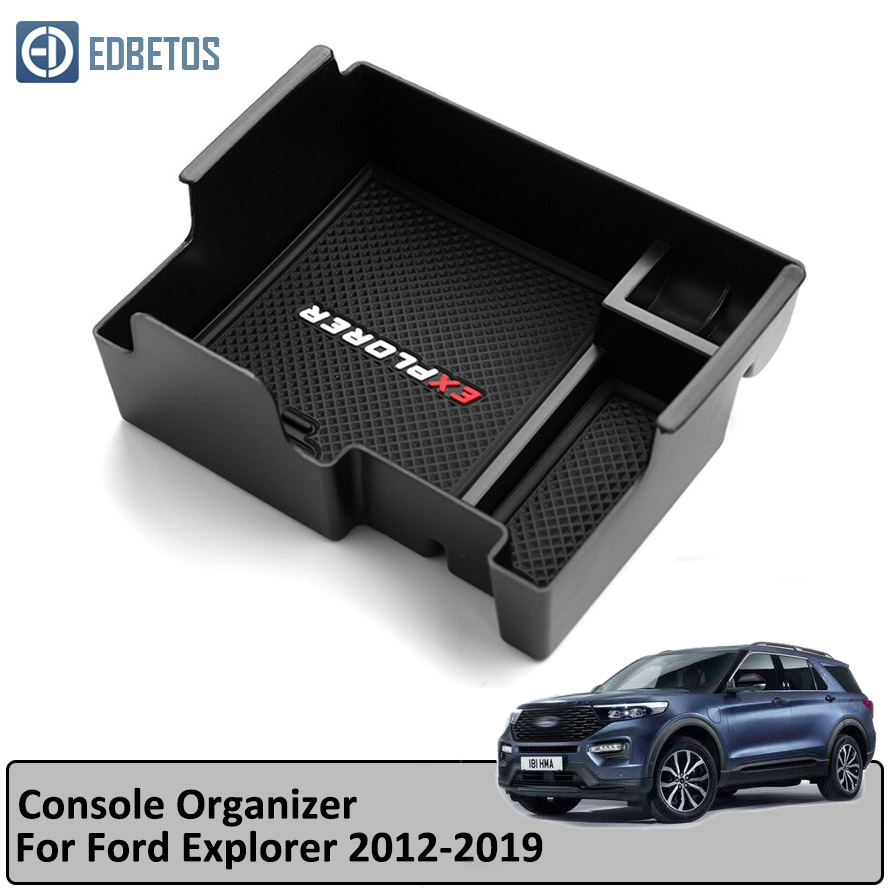 Caixa de Armazenamento De braço para Ford Explorer 2011-2019 Centro Console Organizador Caso Titular Bandeja para Explorador 2014 2015 2016 2017 2018