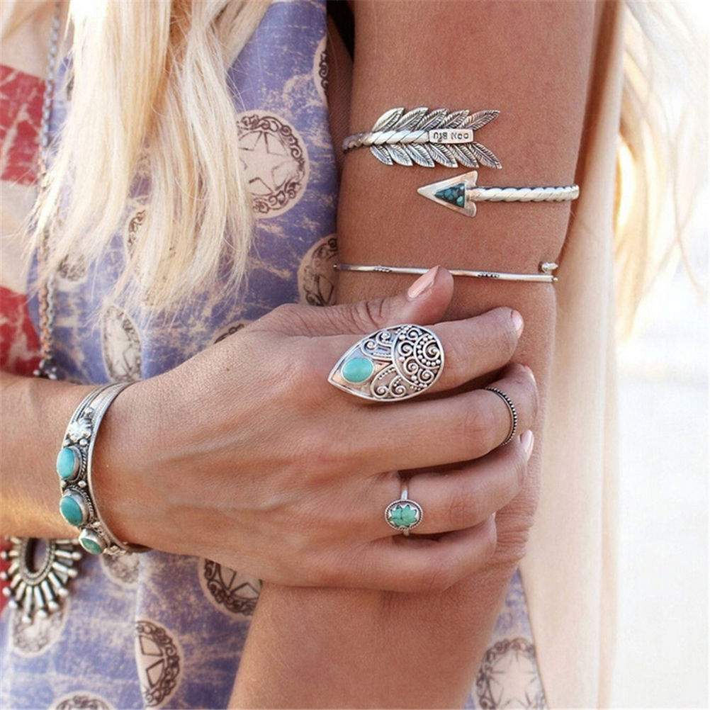 Armlet Arm Cuff Adjustable Bohemian Ethnic Upper Arm Bracelet Arm Cuff Vintage Arrow Open Bangle JETTING 1 PCS