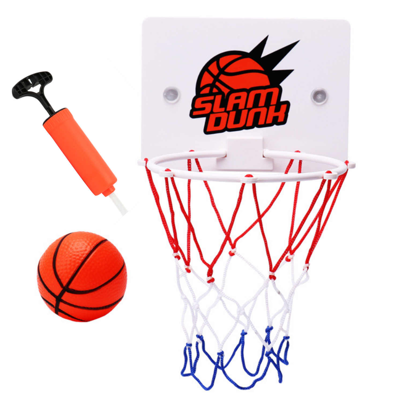 Besegad забавные мячи в корзине стрелялка, игрушка набор с шарик кольцо воздушный насос на присоске для детей и взрослых Офис снять Давление