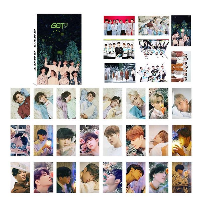 32Pcs Set GOT7 Photocard Album LOMO Cards Paper Photo Card HD Photocard DIY Self Made Cards