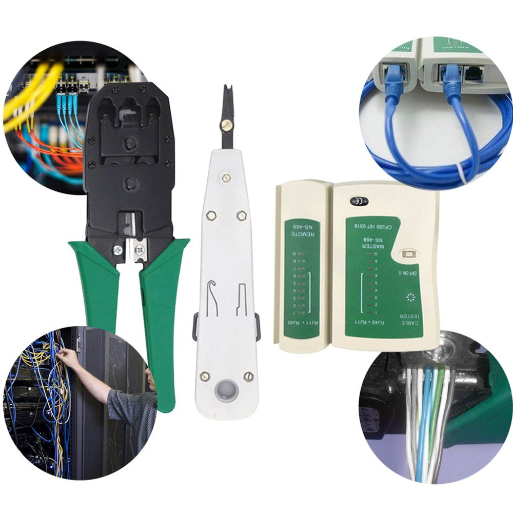 7-in-1 Network Tool Kit Cable Tester And Plier RJ45 Crimper Crimping Tool Wire Line Detector Wire Line Detector Tool Sets free shipping 520pcs double bootlace ferrule crimper and wire end cord terminals 0 25 6mm2 terminal crimping tool set kit