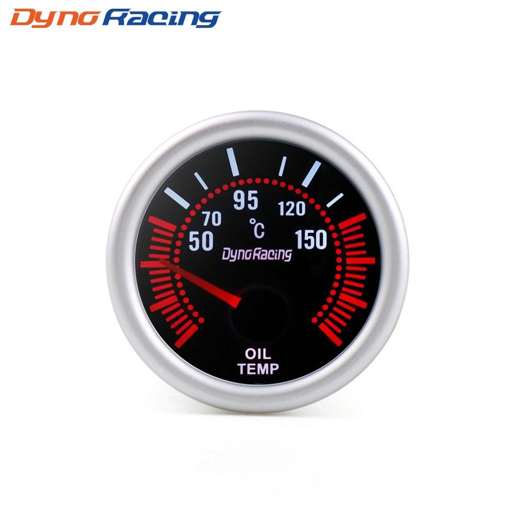 """Dynoracing """" 52 мм дымовая линза Boost gauge бар psi вакуумная температура воды Температура масла пресс вольтметр уровень топлива Тахометр Датчик Оборотов - Цвет: Oil temp gauge"""