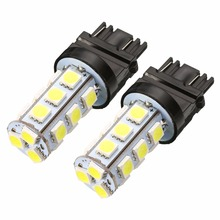 2pcs T25 3157 18SMD 5050 LED Reverse Backup Tail Light Bulb Cool White Automotive Dome Reading Car Door