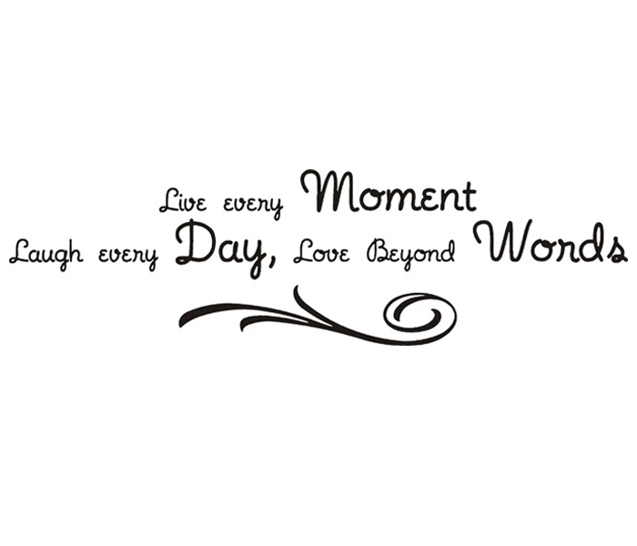 free shipping live every moment religious inspiration quote art wall