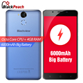 "Blackview p2 4g teléfono móvil 5.5 ""FHD MTK6750T Octa Core Android 6.0 4 GB RAM 64 GB ROM 13MP Cámara 6000 mAh Teléfono Inteligente de IDENTIFICACIÓN de Huellas Dactilares"