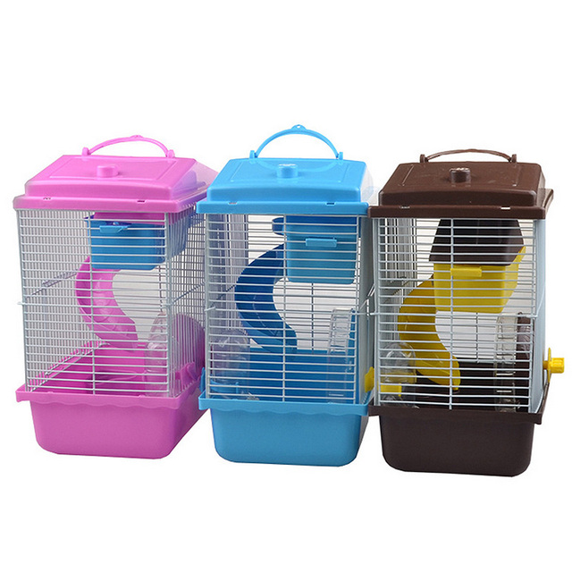 Pet Cage Hamster Pet  Hamster Cottage Transparent Skylight Double Layer  Luxury House Portable Mice Home Habitat Decoration 1