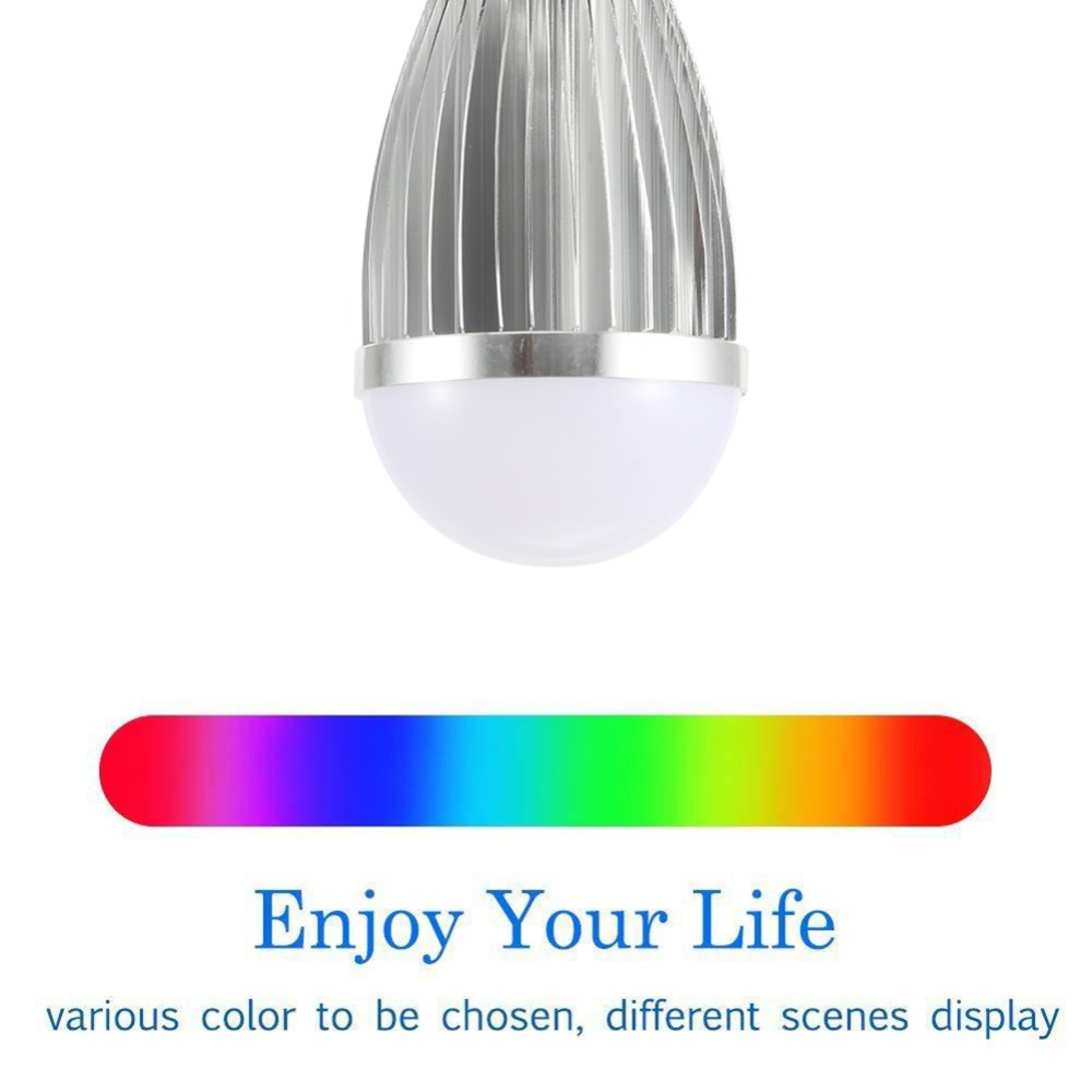 FCMILA LED E27 WiFi Smart Light Bulb Lamp RGBCW Dimmable Multicolor Wake Up Lights Compatible with Alexa and Google Assistant in LED Bulbs Tubes from Lights Lighting