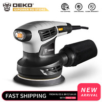 DEKO QD6206R 280W Random Orbit Sander for Wood Working with 15 Sheets of Sandpaper Dust Exhaust and Hybrid Dust Canister