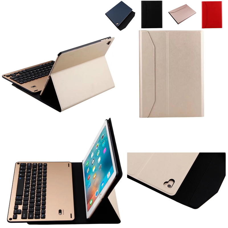 Bluetooth Wireless Keyboard Ultra Slim Smart Shell Stand Cover for Apple new ipad 2017 A1822 A1823 PU Leather Case new detachable official removable original metal keyboard station stand case cover for samsung ativ smart pc 700t 700t1c xe700t