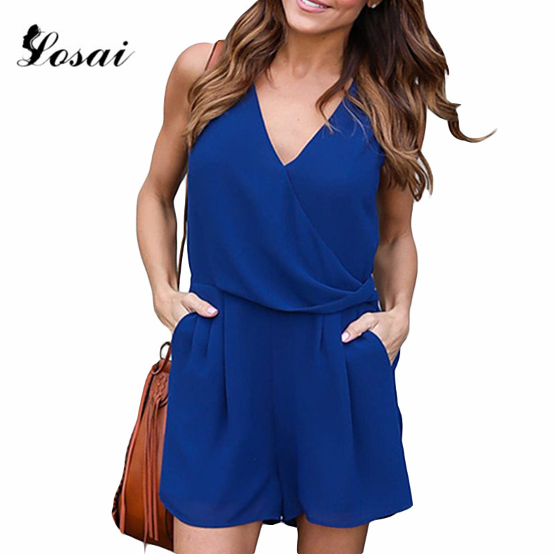 4 Colors Wholesale Retail Summer Women V-Neck Rompers Lady Sexy Club Solid Elegant Bodycon Jumpsuit Playsuit Romper Plus Size