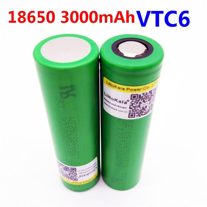 Liitokala VTC6 3,7 В 3000 мАч аккумуляторная 18650 литий-ионный аккумулятор для sony US18650VTC6 30A электронная сигарета игрушки flashligh инструменты