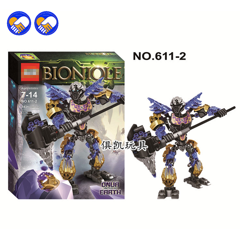 A toy A dream XSZ 611-2 Super heroes Biochemical Warrior BionicleMask of Light Bionicle Onua Bricks Building Block Toys Lepin morgan rice a quest of heroes