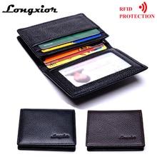MRF18 брендовый тонкий бумажник с блокировкой RFID, модный мужской кошелек для визиток, кредитных карт, ID держатель для карт, кожаные мужские кошельки в винтажном стиле