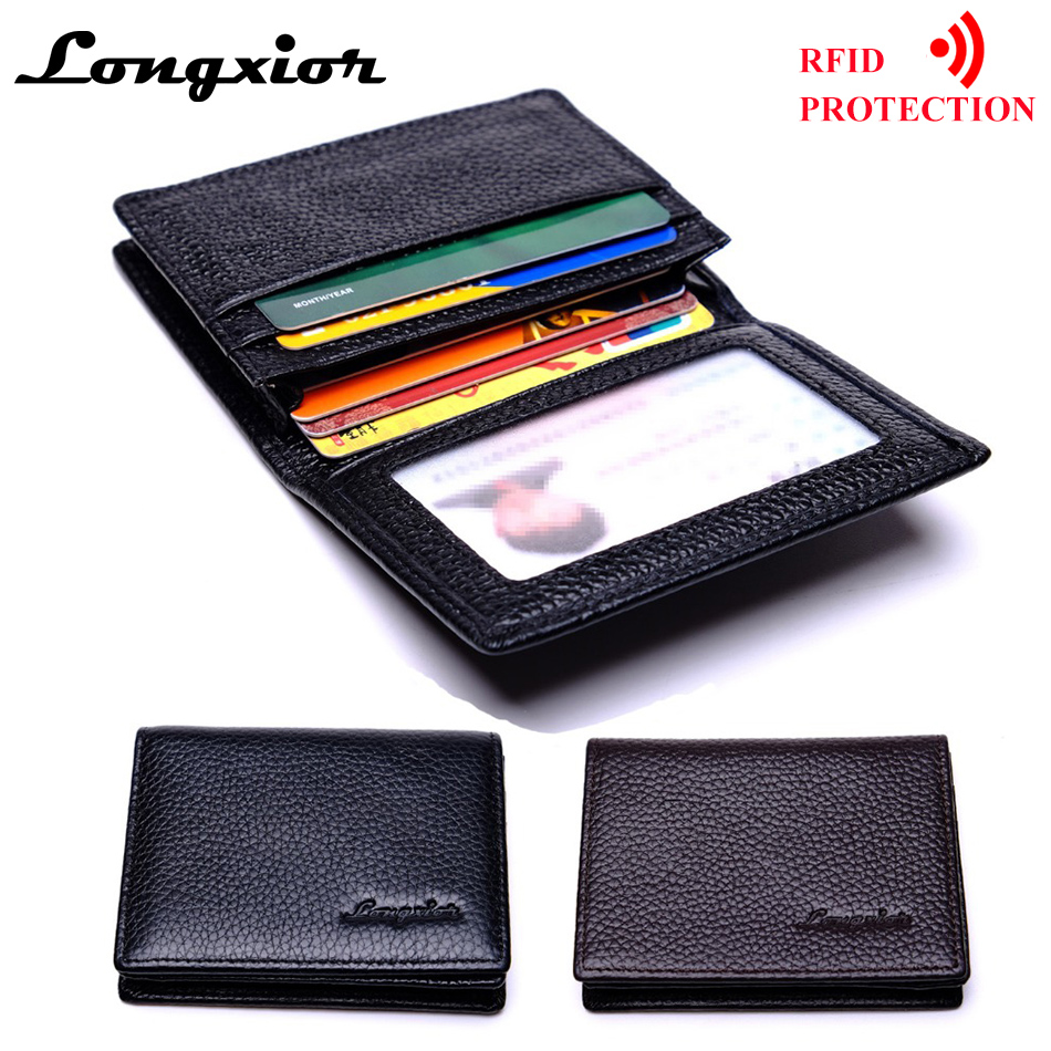 MRF18 Brand RFID Blocking Slim Wallet Fashion Men Business Card ...