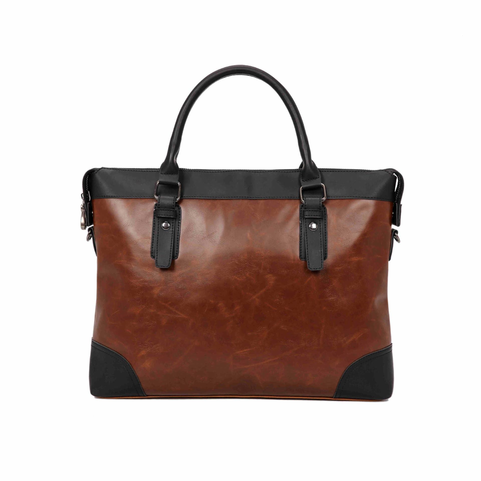 2019 New Leather Men Bag Leisure Men's Business Messenger Bags Portable Briefcase Bag Laptop 14 Inch Leather Handbag