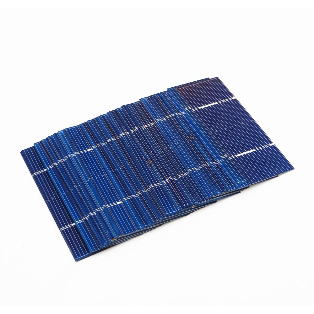 50pcs x Solar Panel Painel Cells DIY Charger Polycrystalline Silicon Sunpower Solar Bord 78*26mm 0.5V 0.37W