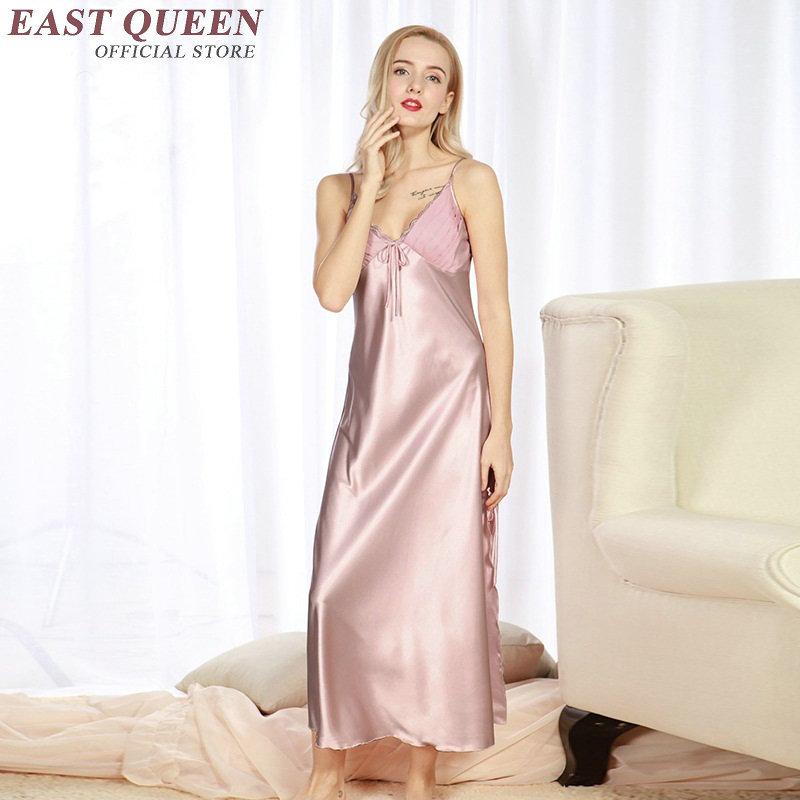 Long satin nightgown women long silk nightgowns KK1351 H ...