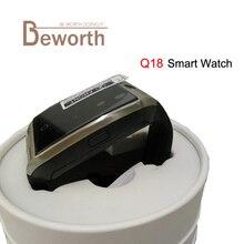 Reloj Teléfono inteligente Apoyo TF Tarjeta SIM GSM Bluetooth Smartwatch Q18 Pantalla táctil Con Cámara para IOS Android PK M26 DZ09 GT08 U8