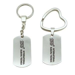 1pcs For Subaru sti Logo Metal KeyChain Badge Key Ring Emblem Key Holder car styling(China)
