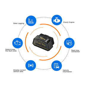 Image 2 - 10 teile/los Vgate iCar Pro Bluetooth 4.0/3.0/WIFI OBD2 Scanner Für Android/IOS Ulme 327 Auto diagnose Werkzeug ELM327 V 1,5 Code Reader