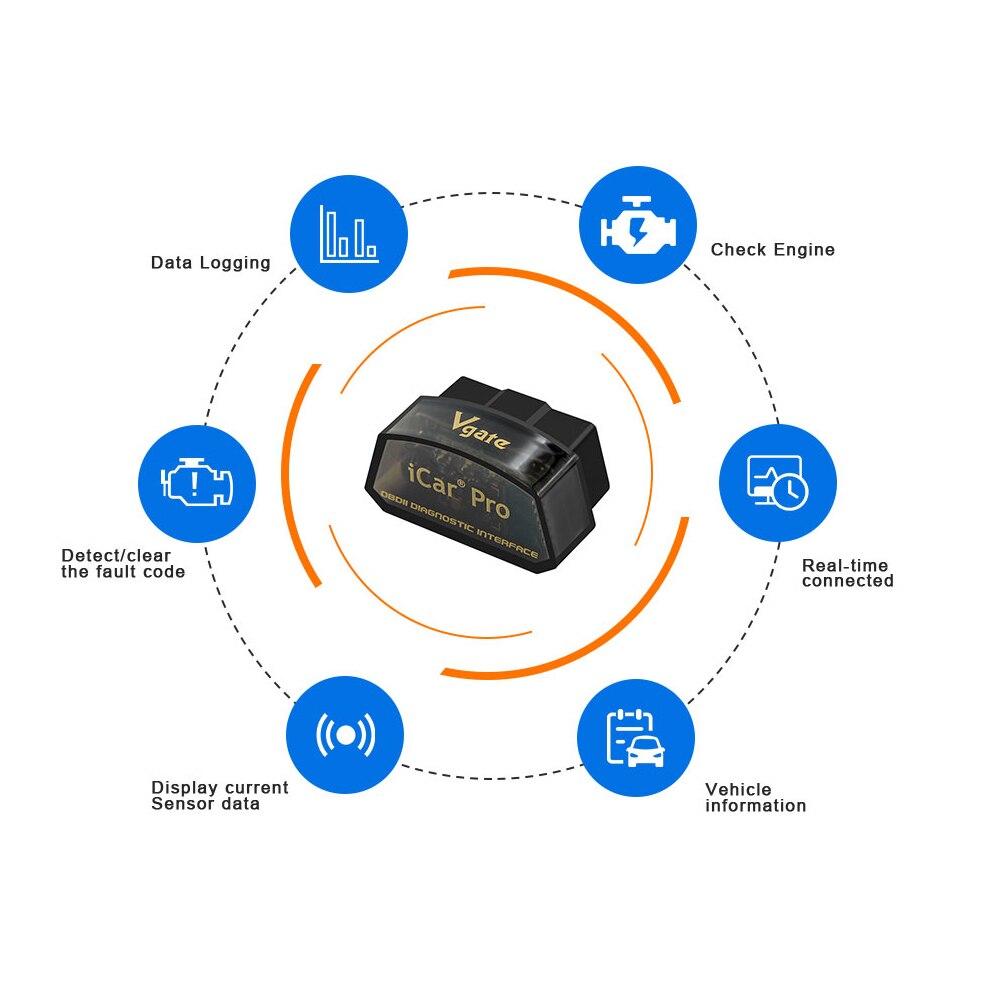 Vgate iCar Pro Bluetooth 4 0 3 0 WIFI OBD2 Scanner For Android IOS Auto Elm Vgate iCar Pro Bluetooth 4.0/3.0/WIFI OBD2 Scanner For Android/IOS Auto Elm 327 Car Diagnostic Tool ELM327 V2.1 Code Reader