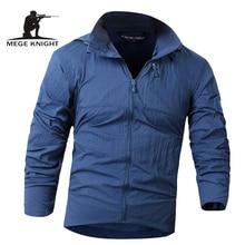Мужская камуфляжная ветровка Mege, повседневная тактическая куртка в стиле милитари, нейлоновый светильник