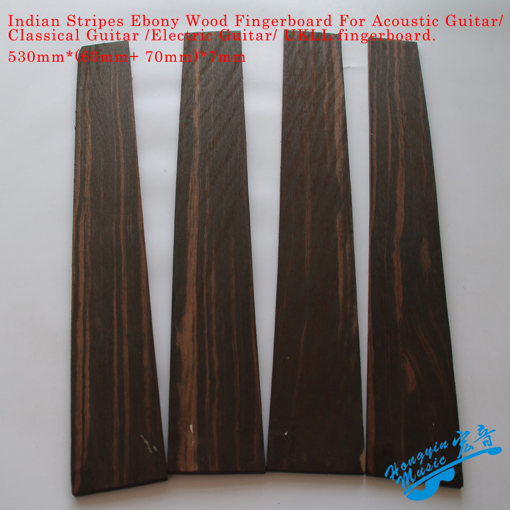 Rayas indias ébano madera Guitarra Fingerboard Original madera Guitarra fabricación materiales accesorios 530*70 7mm