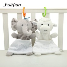 Fulljion Baby Rattles Mobiles Soft Soothing Towel Animals Doll Bed Bell Crib For Educational Stroller Popular Toys Bebe Gifts(China)