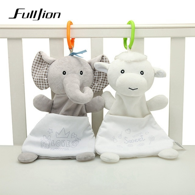 Fulljion Baby Rattles Mobiles Soft Soothing Towel Animals Doll Bed Bell Crib For Educational Stroller Popular Toys Bebe Gifts