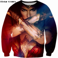 Wonder Woman movie Sweats Women Men Diana Prince 3D printing Jumper Fashion Clothing casual Tops Hipster Sweatshirt size S 5XL