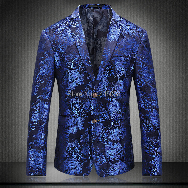 Casual Men Blazers 2018 Best Selling Prom Wedding Suits Slim Fit Mens Tuxedo Floral Suit Jacket