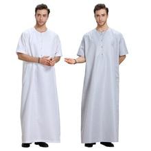 2017 Real Islamic Mens Abaya Muslim Clothing Men Muslim Middle East Arabia Dubai Dress Malaysia Man Seven Point Sleeve Gown