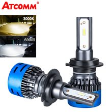 Avacom 2 Pieces LED H7 Mini Turbo Ice Car Bulbs 12V LED H4 High Low 3000K 6000K 40W 9600Lm LED H1 H11 H8 HB3 HB4 Auto Headlight(China)