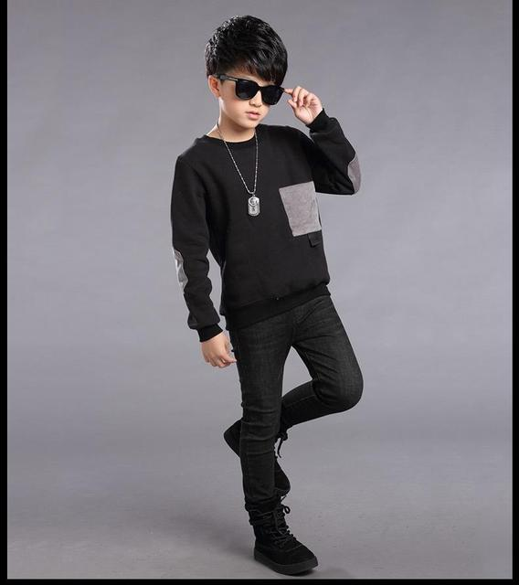Plaid T-Shirts For Boys Clothing Children Tops 5 9 11 13 Years Long Sleeve School Boys Tees Cotton Casual 2016 Teenager Clothes
