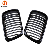 POSSBAY Front Hood Kidney Grille Grills Gloss Black for BMW 3 Series E36 323i/323ti/325i Compact 1996 2001 Facelift Car Styling