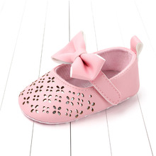 2019 New Arrivals Baby Girls Sandals cut bowtie infant Girls Shoes Hollow Out Toddlers Princess Shoes 0-2Years Old Kids Shoes цена 2017