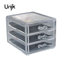 Urijk 3 Layers Transparent Acrylic Storage Drawer Makeup Organizer Jewelry Cosmetic Storage Box Home Sundries Holders